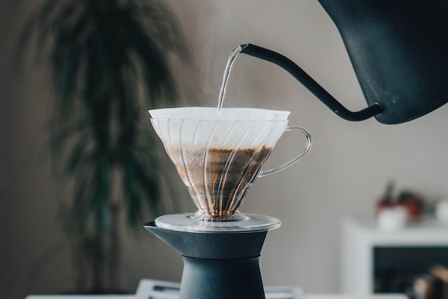 La préparation du café filtre